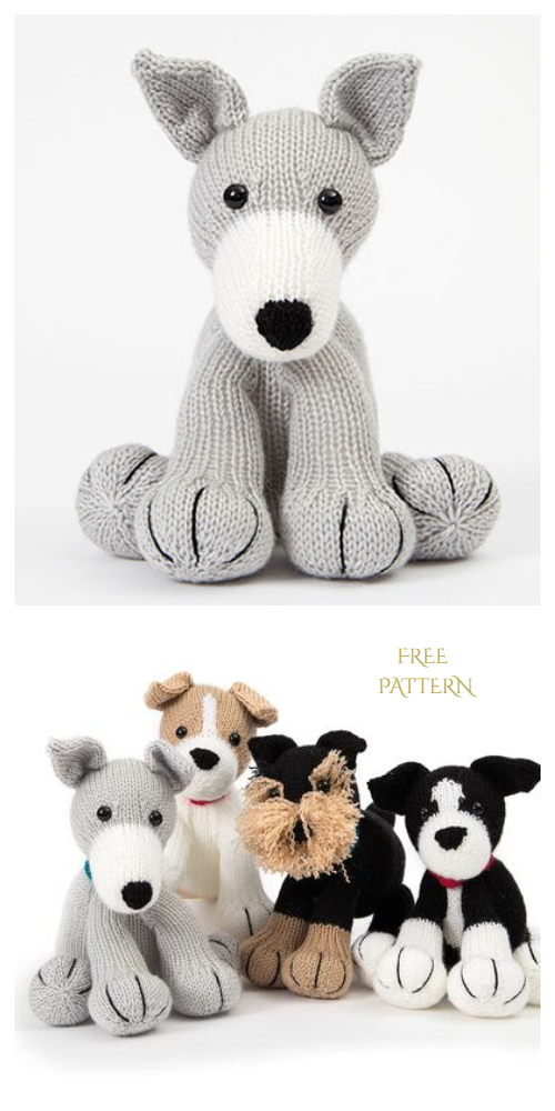 Knit Amigurumi Dog Toy Sofites Free Knitting Patterns - Free Greyhound Dog toy pattern