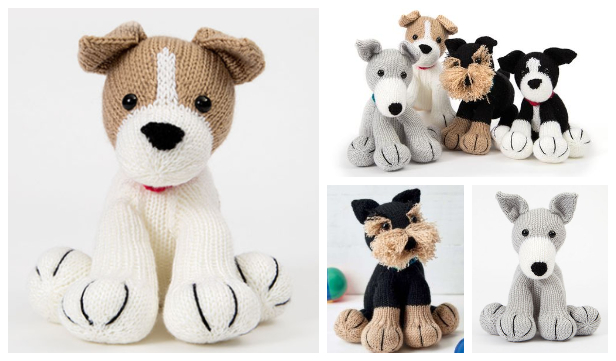 Knit Amigurumi Dog Toy Sofites Free Knitting Patterns