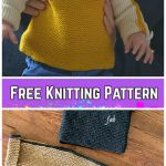 Knit Easy Garter Stitch French Macaroon Baby Sweater Pullover Free Knitting Pattern