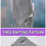 Knit Hoodie Shawl Free Knitting Pattern for Ladies