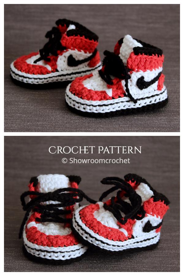 Air Jordans Baby Sneaker Booties Crochet Pattern