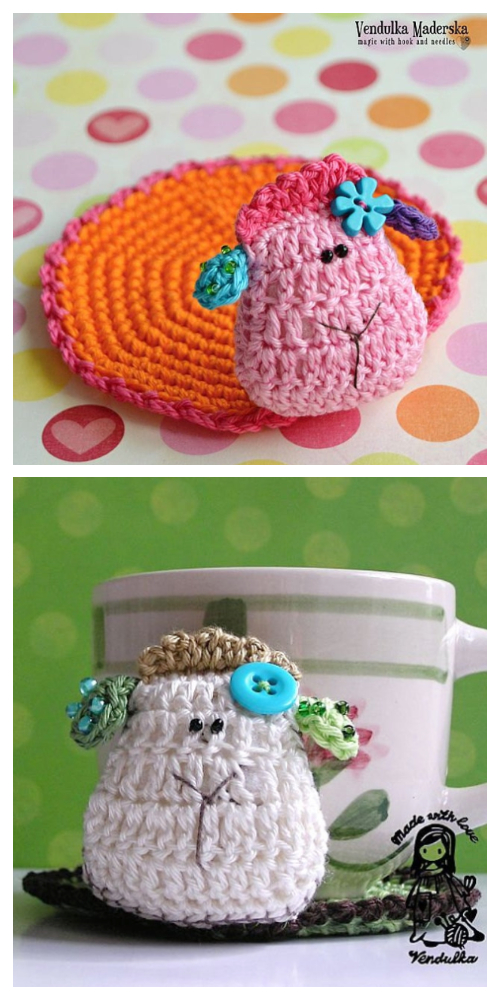 Sheep Coaster Free Crochet Patterns & Paid