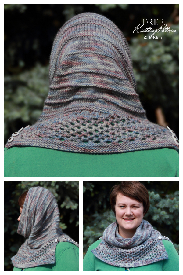 Knit Arya's Water Dancer Cowl Hoodie Free Knitting Pattern