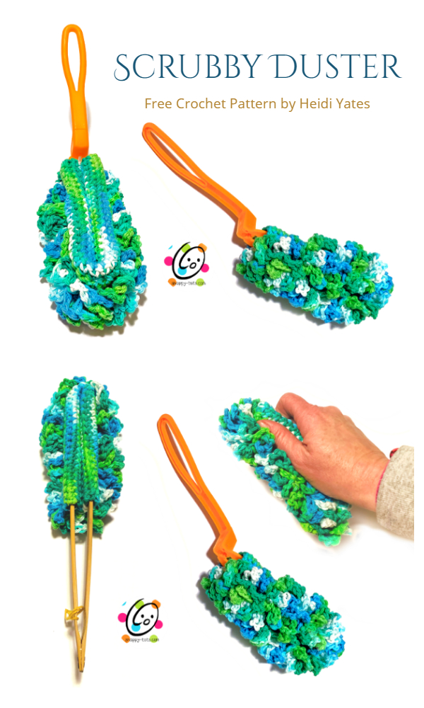 8 Cleaning Duster Cover Free Crochet Patterns & Paid