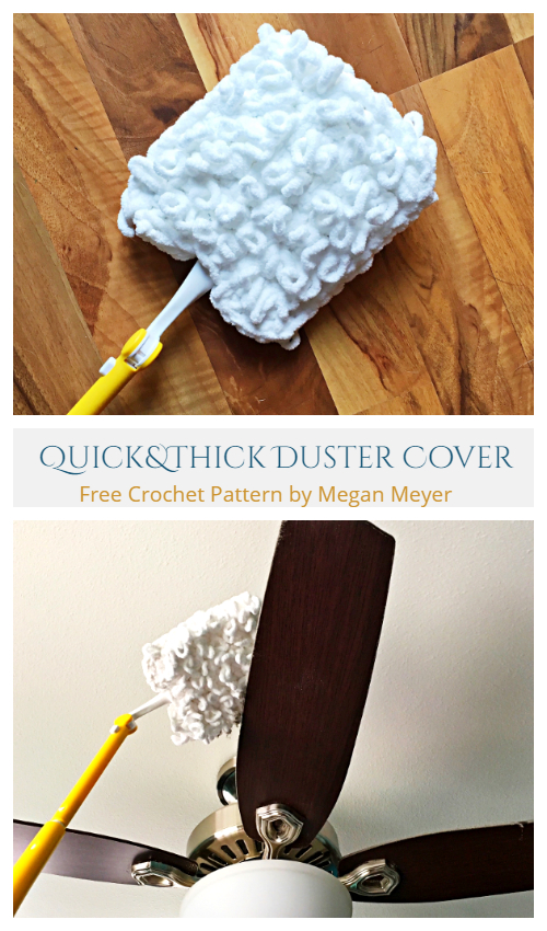 Quick and Thick Duster Cover Free Crochet Pattern