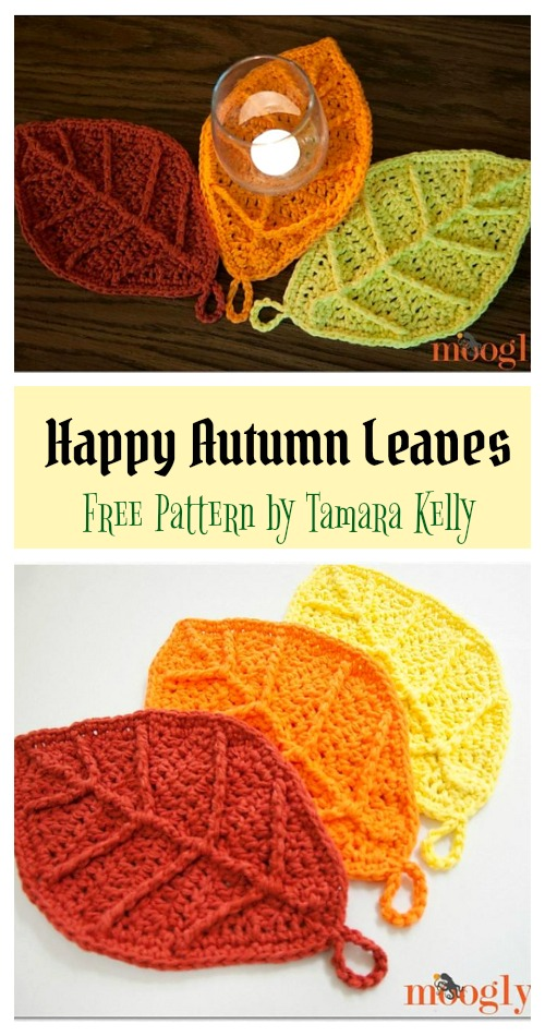 Happy Autumn Leaves Free Crochet Pattern