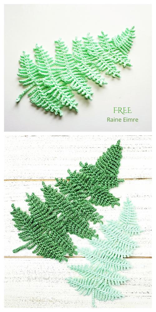 Fern Leaf Free Crochet Pattern
