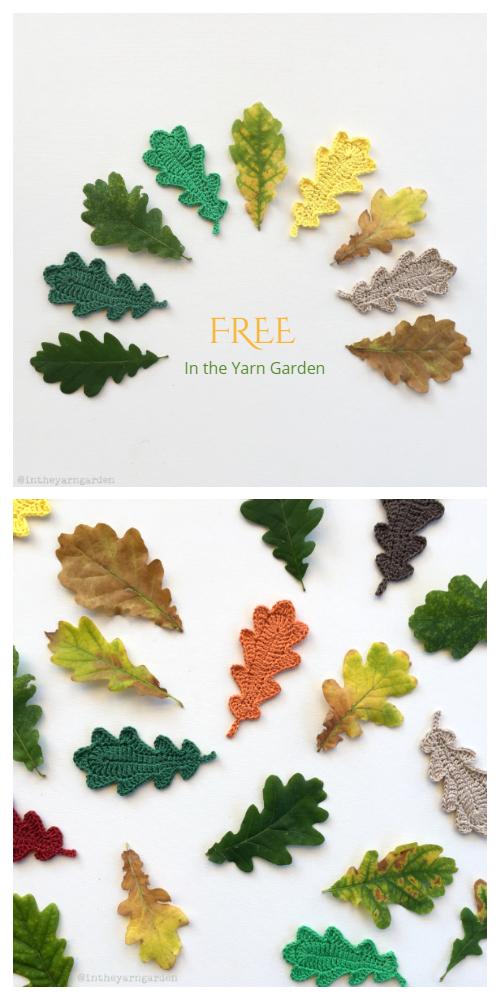 Oak leaves Free Crochet Pattern