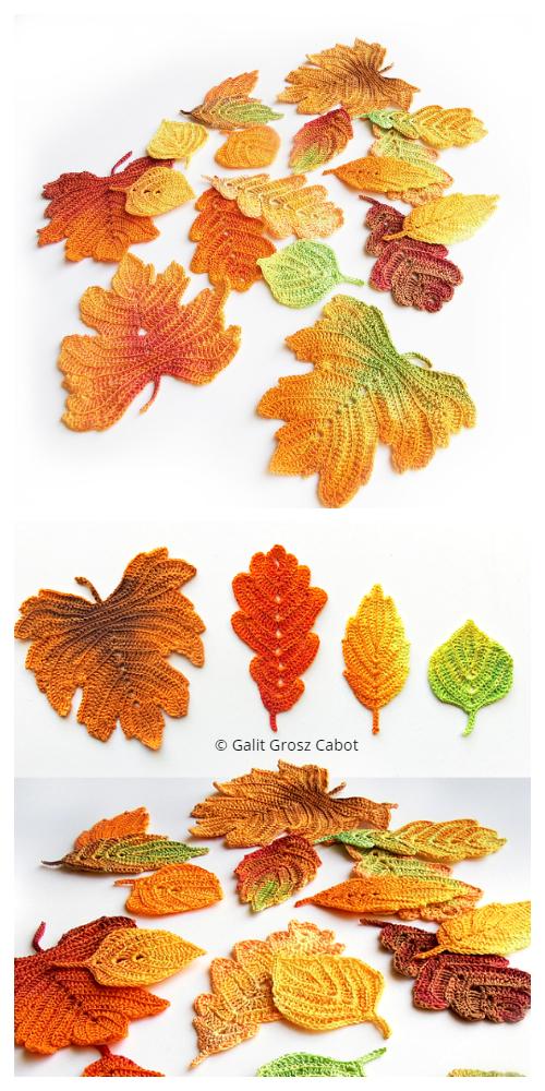 Autumn Colors LeavesCrochet Patterns