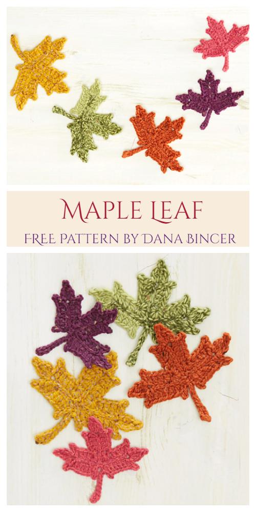 Maple Leaves Free Crochet Pattern