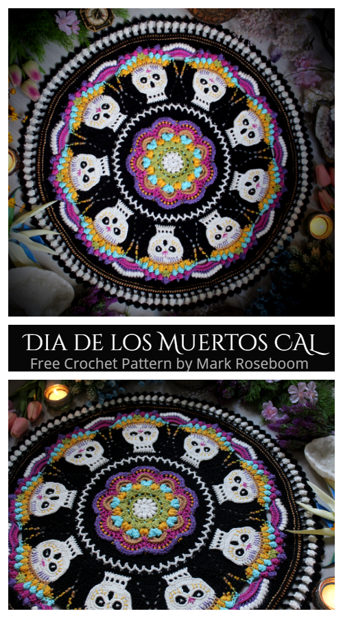 Dia de los Muertos Doily Free Crochet Patterns