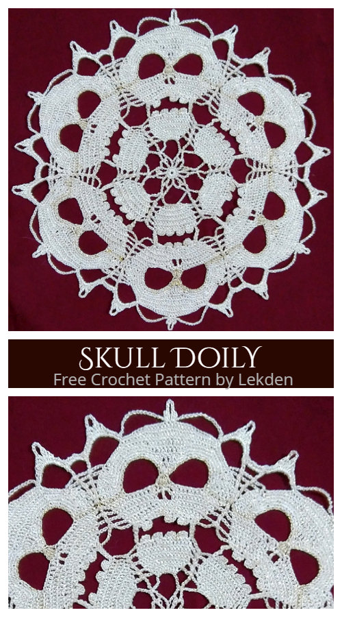 Halloween Skull Doily Free Crochet Patterns