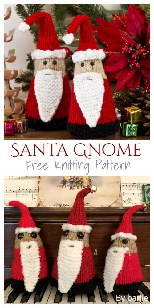 Knit Santa Gnome Free Knitting Patterns