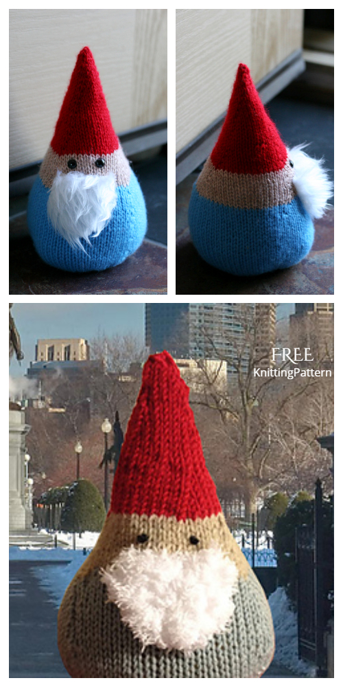 Knit Santa Gnome Free Knitting Patterns