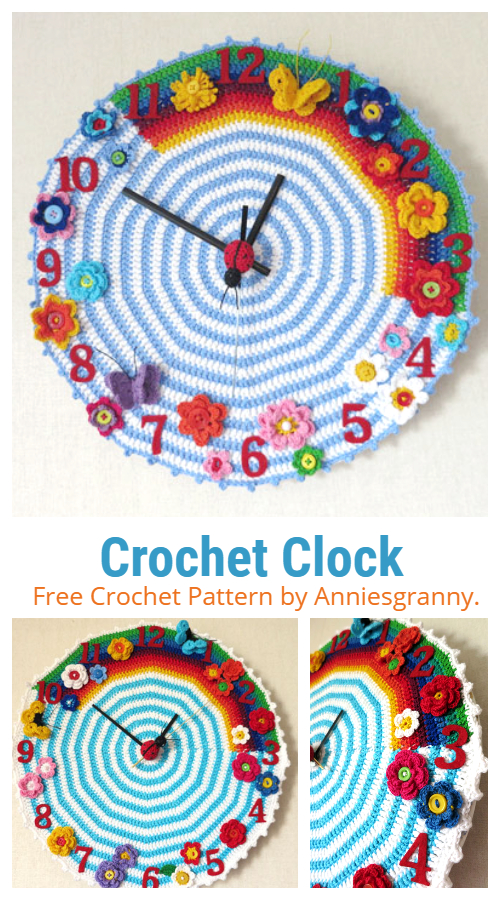 Wall Clock Free Crochet Patterns