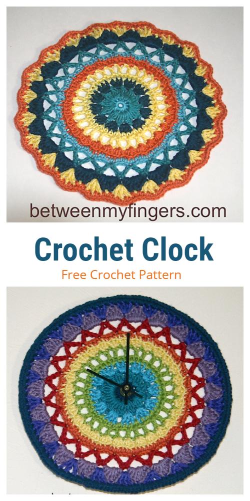 CrochetMandalaClock Free Crochet Pattern