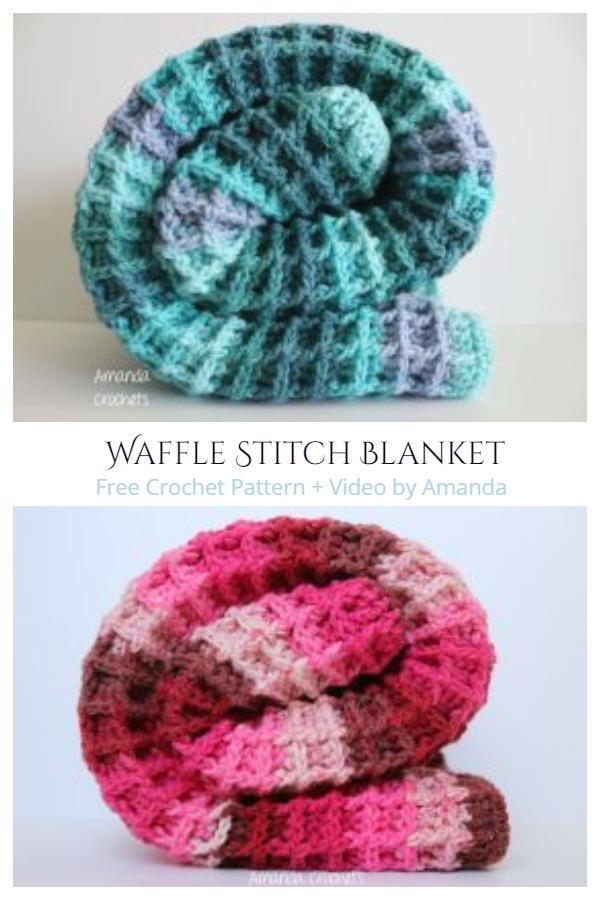 Waffle Stitch Blanket Free Crochet Patterns - Video tutorial