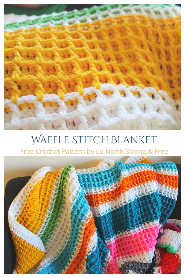 Waffle Stitch Blanket Free Crochet Patterns