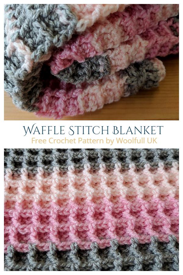 Waffle Stitch Blanket Free Crochet Patterns + Video