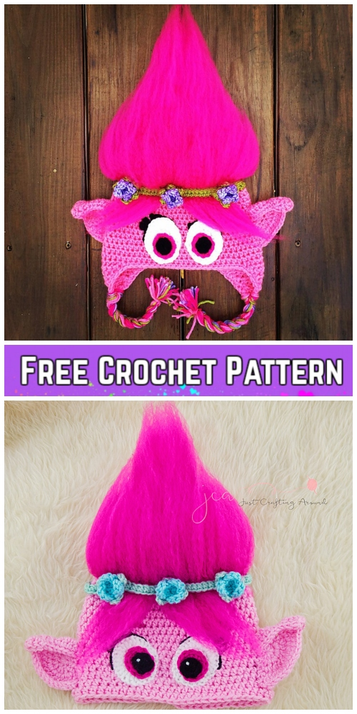 Crochet Poppy Troll Hat Free Crochet Pattern