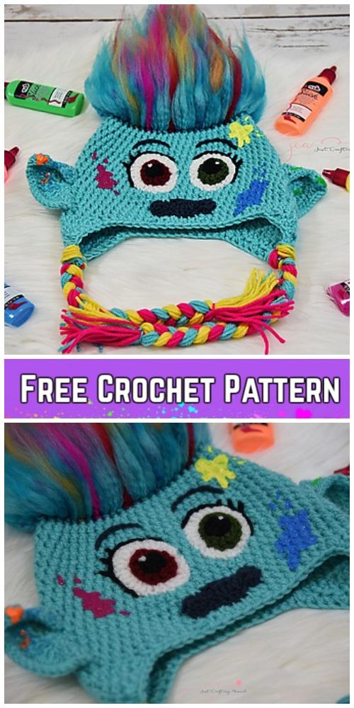 Crochet Harpertroll hatFree Crochet Pattern