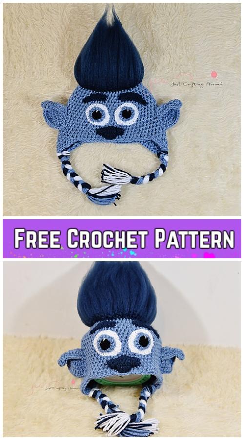Crochet Branch troll hatFree Crochet Pattern