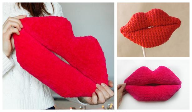 Amigurumi lips Free Crochet Patterns & Paid