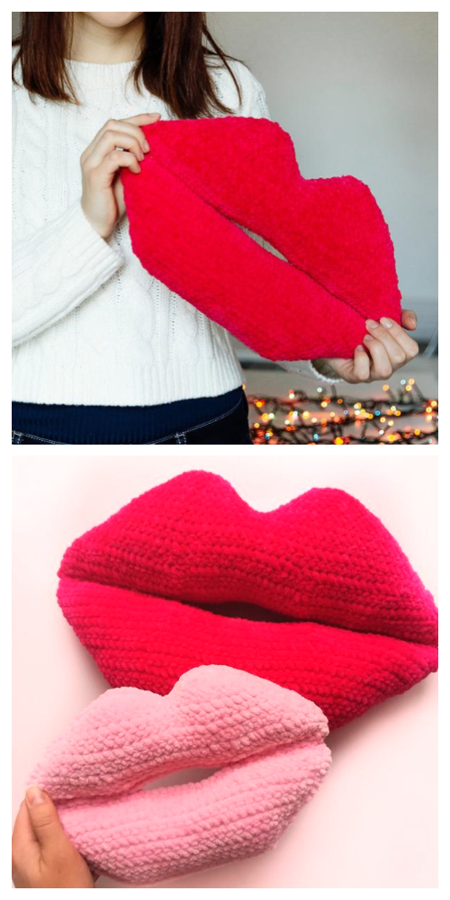 Amigurumi lips Free Crochet Patterns & Paid