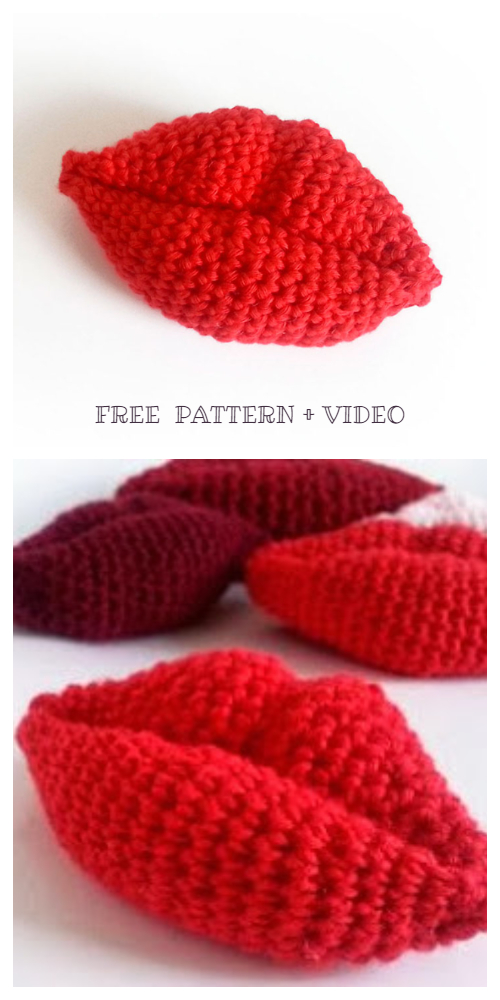 Amigurumi Kiss lip Free Crochet Pattern