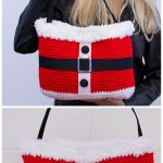 Christmas Crochet Santa Bag Free Crochet Pattern and video tutorial