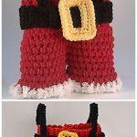 Christmas Crochet Santa Pants Bag Free Crochet Pattern