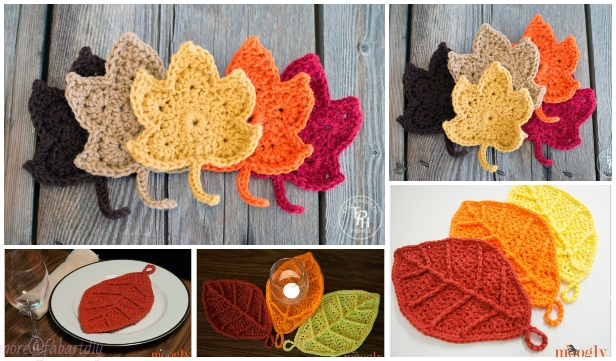 Crochet Fall Leaves Free Crochet Patterns & Paid