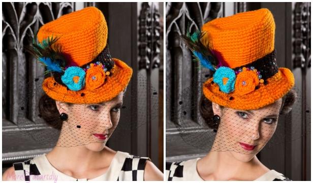 Crochet Halloween Top Hat Free Crochet Pattern for Ladies - Video