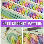 Crochet Interlocking Rainbow Ring Baby Blanket Free Crochet Pattern