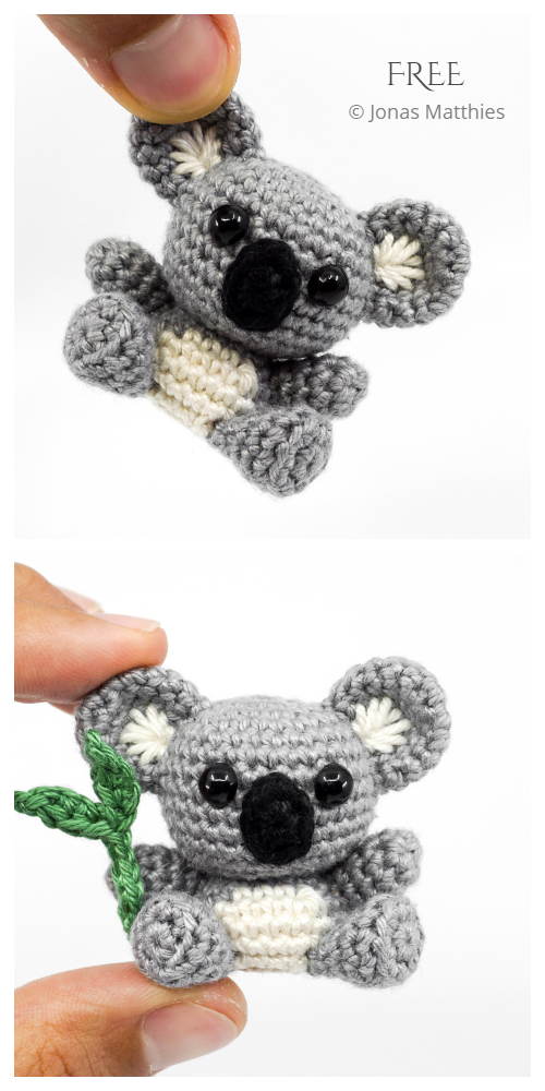 Crochet Mini Koala Toys Amigurumi Free Patterns