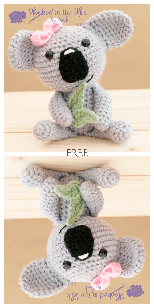 Crochet Monty Koala Amigurumi Free Patterns