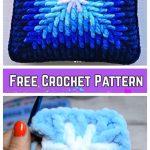 Crochet Ombre Plush Square Pillow Cover Free Crochet Pattern - Video