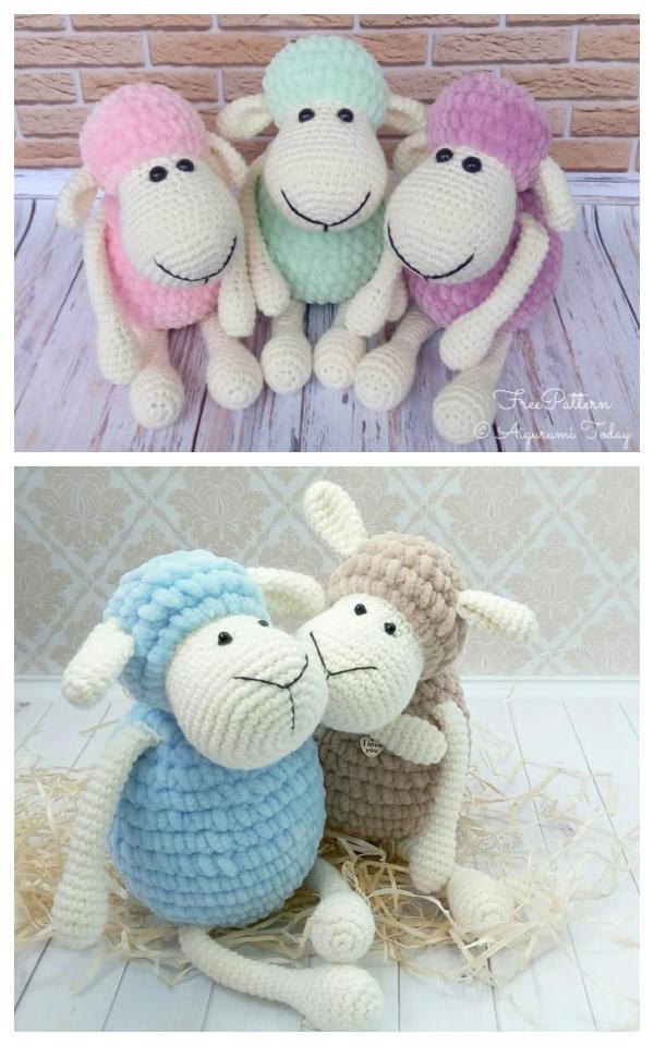 Crochet Sheep Toy Plush Amigurumi Free Patterns