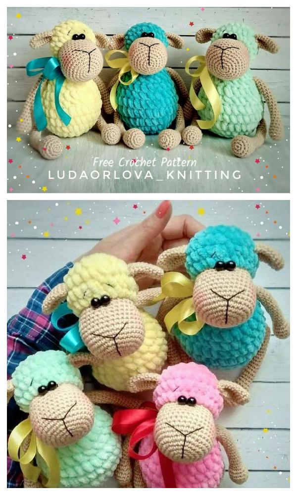 Crochet Sheep Toy Amigurumi Free Patterns