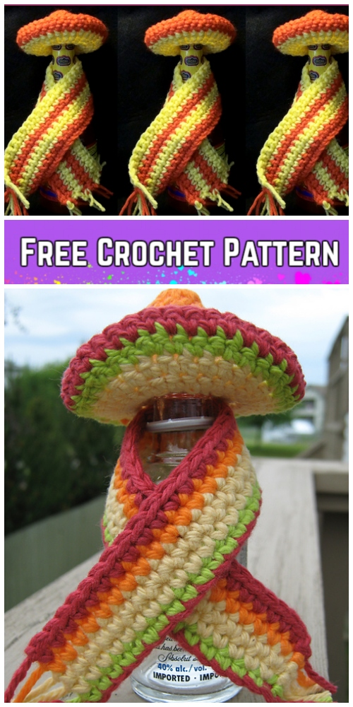 Crochet Sombrero & Cape for Louisiana Hot Sauce Free Crochet Pattern