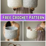 Crochet Waistcoat Basket Free Crochet Pattern - Video