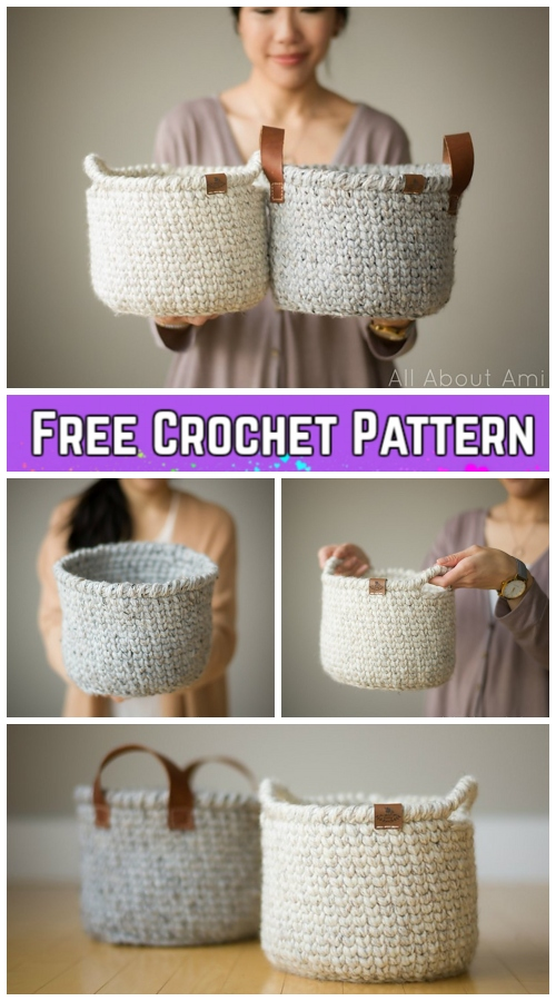 Crochet Waistcoat Basket Free Crochet Pattern - Video