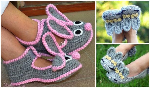 Crochet Baby Booties Crochet Patterns Classic Year-Round ...  |Baby Bunny House Slipper Crochet Pattern