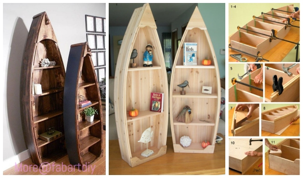 DIY Pallet Wood Boat Bookshelf Tutorial - Video
