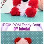 DIY Pom Pom Teddy Bear Tutorial with Wool - Video