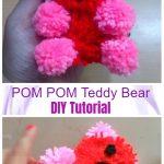 DIY Pom Pom Teddy Bear Tutorial - Video