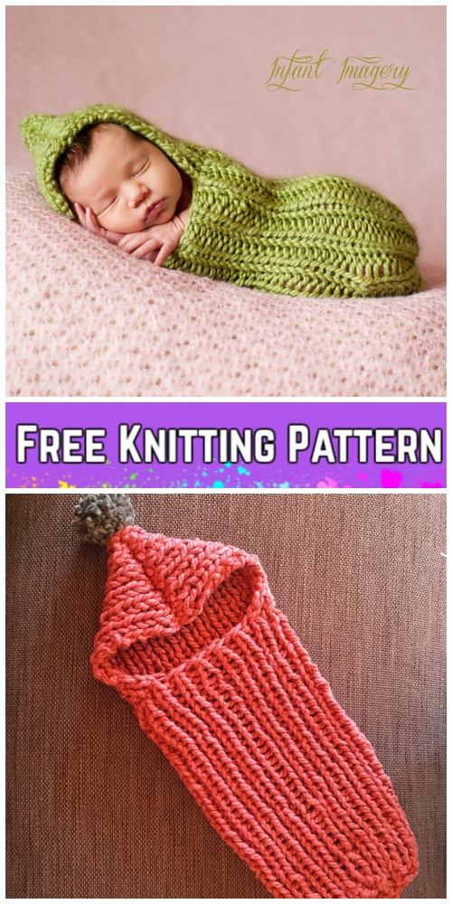 Easy Baby Garden Cocoon Free Knitting & Crochet Patterns