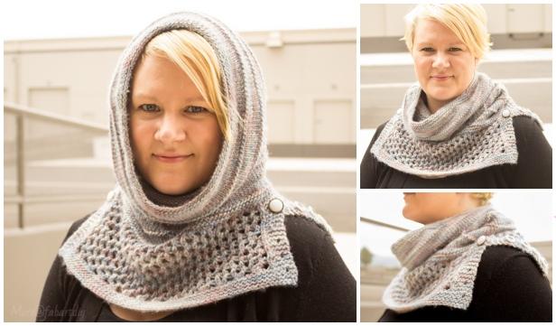 Knit Arya's Water Dancer Cowl Hoodie Free Knitting Pattern