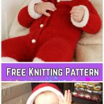 Knit Baby Santa Sweater Cardigan Free Knitting Patterns -My First Christmas byDROPS design