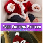 Knit Baby Santa Sweater Cardigan Free Knitting Patterns - Santa Baby Sweater by Lorna Miser